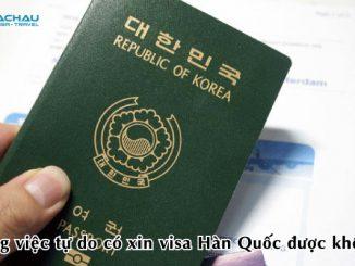 Công việc tự do có xin visa Hàn Quốc được không?