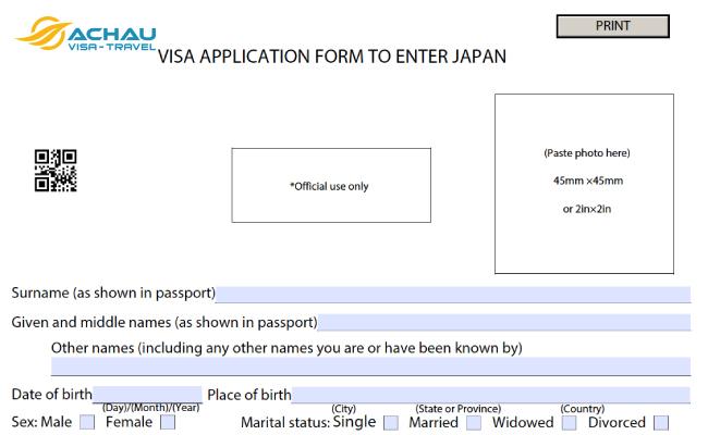 Những lưu ý trong quá trình điền tờ khai xin visa du lịch Nhật Bản 1